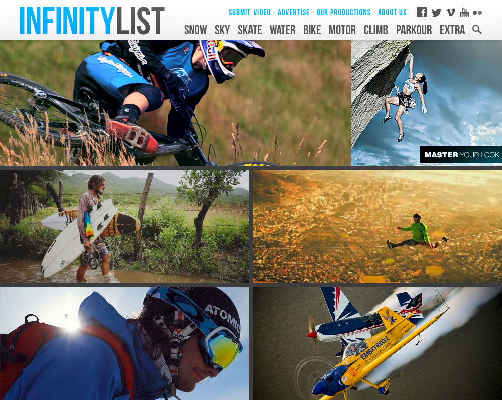Home page of InfinityList